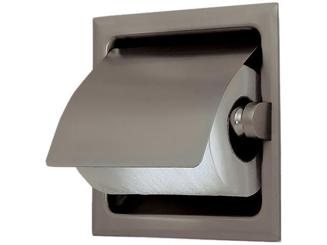 Gatco 786 Recessed Toilet Paper Holder With Cover In Satin Nickel