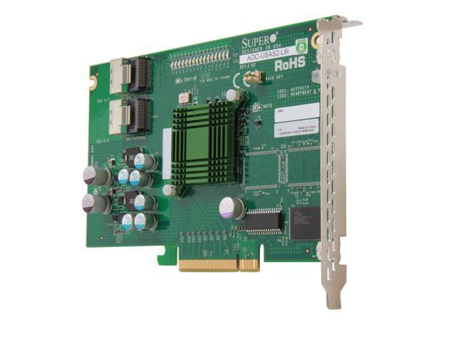 8 Ports SuperMicro SAS Raid Controller AOC-USASLP-L8i SuperMicro USASLP-L8i Low