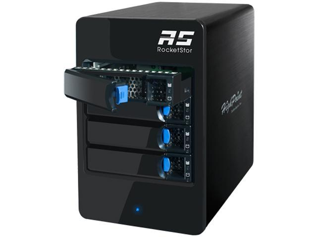 HighPoint RocketStor 6414S 6Gb//s SAS//SATA 4-Bay Storage Tower Enclosure