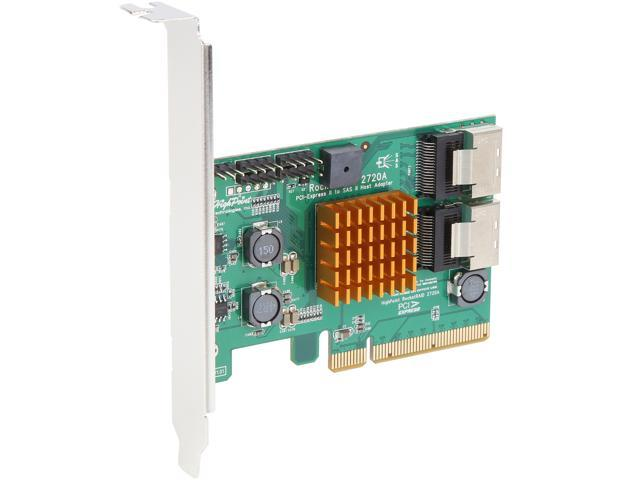 HIGH POINT TECHNOLOGIES ROCKET 2720SGL 8-Port SAS//SATA RAID Controller