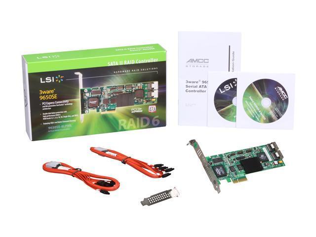 3Ware 9650SE-8LPML SATA2 Hardware RAID Controller Kit 9650SE-8LPML-KIT