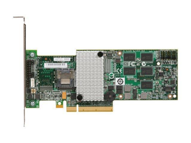 LSI MegaRAID SATA / SAS 9260-4i 6Gb/s PCI-Express 2 0 w/ 512MB Onboard  Memory RAID Controller Card, Kit--Avago Technologies
