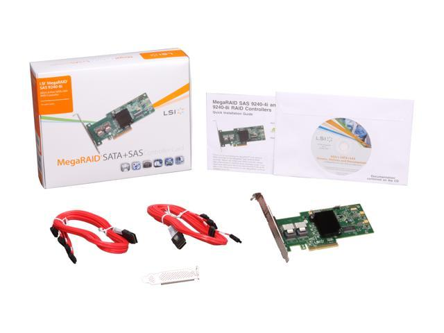 LSI LSI00204 (9240-8i Kit) PCI-Express 2 0 x8 SATA / SAS MegaRAID SAS  9240-8i Kit - Newegg com
