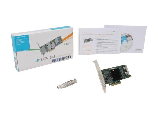 LSI SAS 9207-8i SATA//SAS 6Gb//s PCI-E 3.0 Host Bus Adapter LSI00301 SAS9207-8i