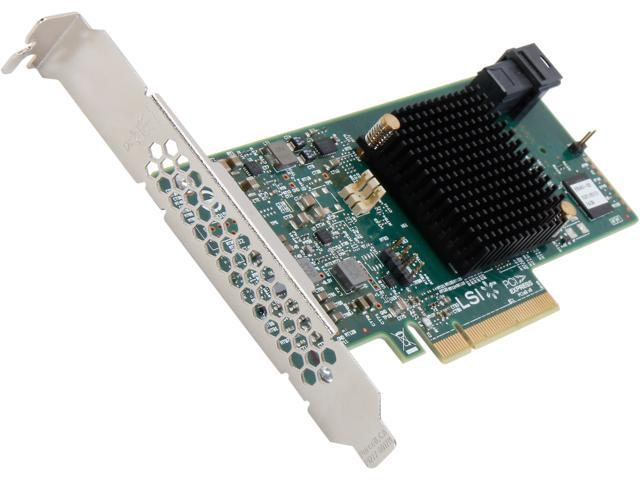 LSI MegaRAID SAS 9341-4i (LSI00419) PCI-Express 3 0 x8 Low Profile SATA /  SAS High Performance Four-Port 12Gb/s RAID Controller (Single Pack)--Avago
