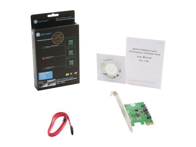 SYBA SY-PEX40039 2 Port SATA III PCI-e 2 0 x1 Card - Newegg com