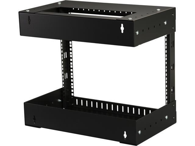 TECHTOO Wall Mount Rack 4U Adjustable Depth Open Frame 19Inch Server Equipment Rack Heavy Duty Patch Panel Bracket Network Equipment Rack Adjustable 4U