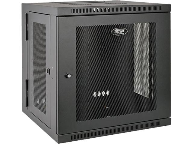 Tripp Lite 12U Wall Mount Rack Enclosure Cabinet, Hinged Back, Low Profile
