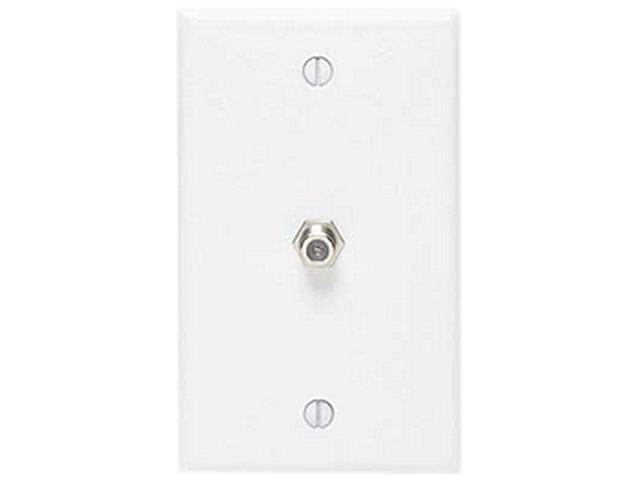 Eagle Wall Plate F Jack Telephone RJ11 Duplex Receptacle Phone White Outlet Coax