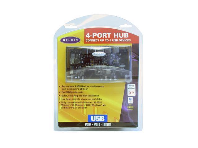 Belkin F5U021 USB 4-Port HUB TESTED no ac adapter