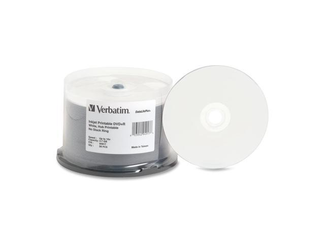 image about Printable Dvd Discs known as Verbatim Inkjet Printable DVD+R Discs 4.7 GB 16X Spindle White 50 Pack -