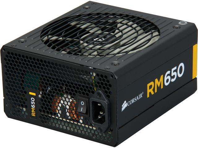 CORSAIR RM Series RM650 650W ATX12V v2.31 and EPS 2.92 80 PLUS GOLD Certified Full Modular Active PFC Power Supply