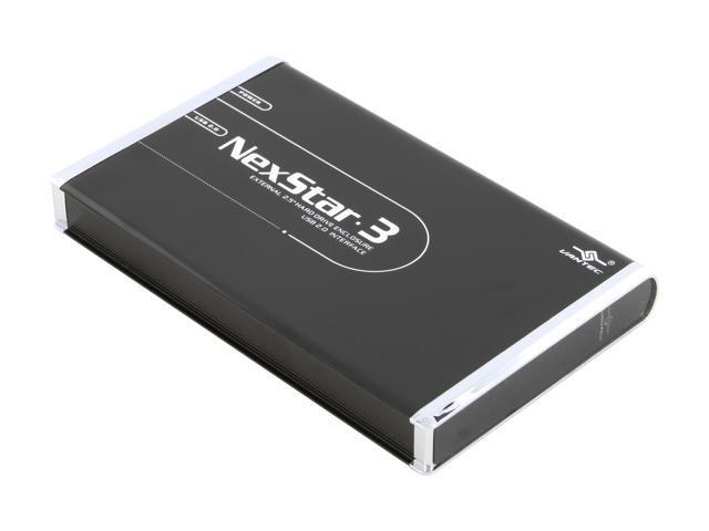 "2.5/"" IDE to USB2.0 External Hard Drive Enclosure Vantec NexStar3 Onyx Black"