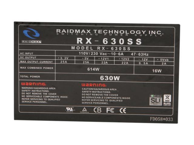 RAIDMAX HYBRID 2 RX-630SS 630W Power Supply - Newegg com