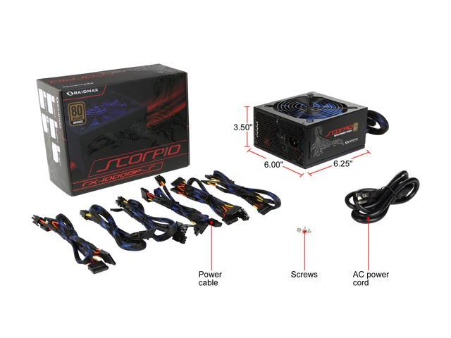 RAIDMAX RX-1000AP-S 1000W ATX12V v2.3//EPS12V SLI Ready CrossFire Ready 80 PLUS B