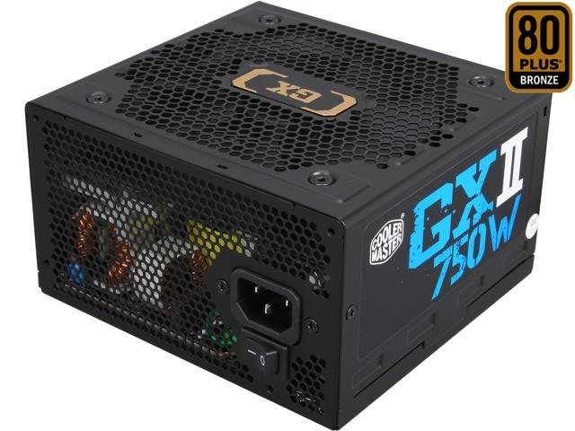 New Cooler Master GX II Pro 750W 80 PLUS Bronze Power Supply PSU RS-750-ACAA-B1