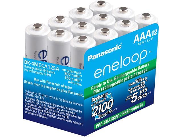 Panasonic Bk 4mcca12sa Eneloop Aaa 2100 Cycle Ni Mh Pre