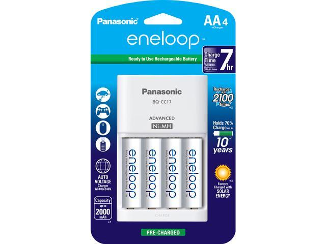 PANASONIC K-KJ17MCA4BA 4-Position Charger 4 eneloop AA rechargeable Batteries.