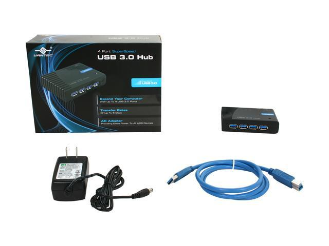 Vantec 4 Port SuperSpeed USB 3.0 Hub