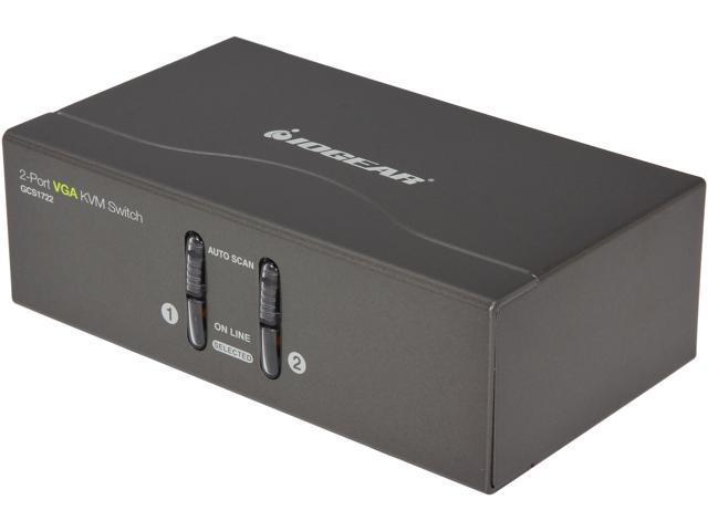 IOGEAR 2 Port VGA KVM Switch, PS2 and USB - 2 Computer(s) - 1 Local User(s)  - 2048 x 1536 - 2 x PS/2 Port - 2 x USB1 x VGA - Newegg com