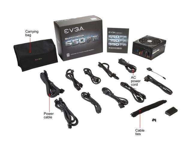 EVGA SuperNOVA 650 P2 220 P2 0650 X1 80+ PLATINUM 650W Fully Modular EVGA ECO Mode Includes FREE Power On Self Tester Power Supply