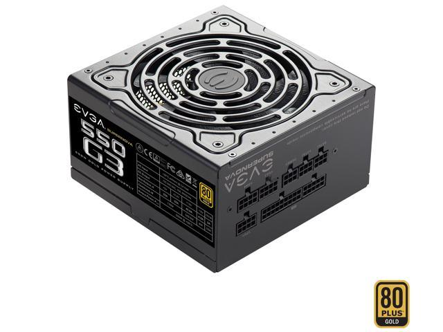 59.99 - EVGA SuperNOVA 550 G3 220-G3-0550-Y1 80 GOLD 550W Fully Modular EVGA ECO Mode with New HDB Fan Includes FREE Power On Self Tester Compact 150mm Size Power Supply