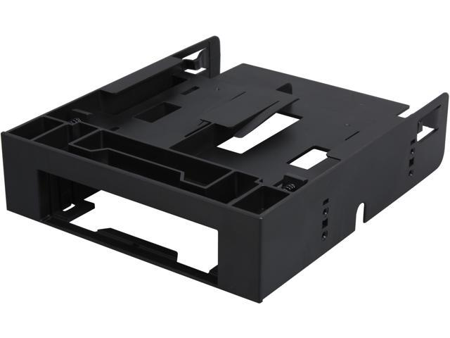ICY DOCK Dual 2 5 SSD 1 x 3 5 HDD Device Bay to 5 25 Drive Bay Converter /  Mount / Kit / Adapter - FLEX-FIT Trio MB343SP - Newegg com