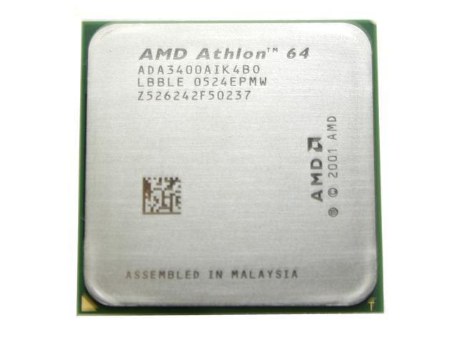 Amd Athlon 64 3400 Venice Single Core 2 4 Ghz Socket 754 Ada3400aik4bo Processor Newegg Com