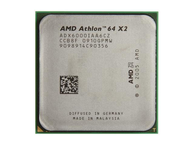 Amd Athlon 64 X2 6000 3 0 Ghz Socket Am2 Adx6000iaa6cz Processor Oem Newegg Com