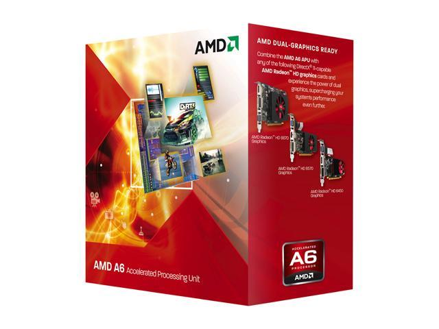AMD A6-3500 2 1GHz (2 4GHz Max Turbo) Socket FM1 AD3500OJGXBOX Desktop APU  (CPU + GPU) with DirectX 11 Graphic - Newegg com