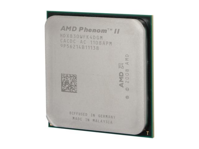 AMD Phenom II X4 830 Deneb Quad-Core 2 8 GHz Socket AM3 95W HDX830WFK4DGM  Desktop Processor - Newegg com