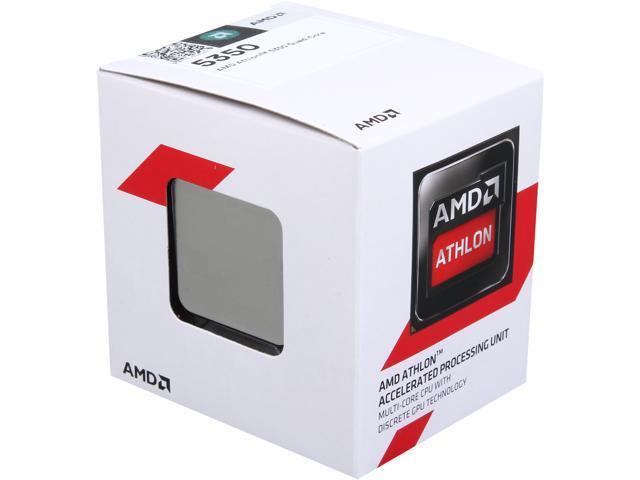 Amd Athlon 5350 2 05 Ghz Socket Am1 Ad5350jahmbox Desktop Processor Newegg Com