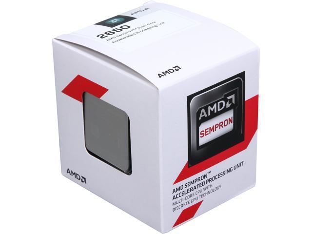 Amd Sempron 2650 1 4 Ghz Socket Am1 Sd2650jahmbox Desktop Processor Newegg Com