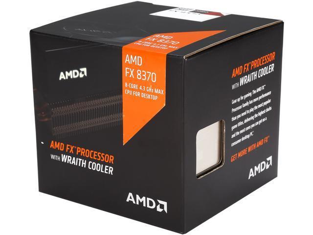 AMD FX-8370 with AMD Wraith Cooler 4 0 GHz (4 3 GHz Turbo) Socket AM3+  FD8370FRHKHBX Desktop Processor - Newegg com