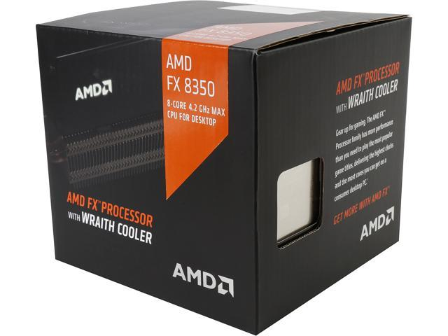 Used Like New Amd Cpu Fx 8350 Black Edition 4 0 Ghz 4 2 Ghz Turbo Socket Am3 Fd8350frhkhbx Desktop Processor With Amd Wraith Cooler Newegg Com