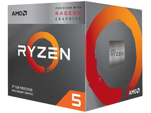 AMD RYZEN 5 3400G 4-Core 3 7 GHz (4 2 GHz Max Boost) Socket AM4 65W  YD3400C5FHBOX Desktop Processor - Newegg com