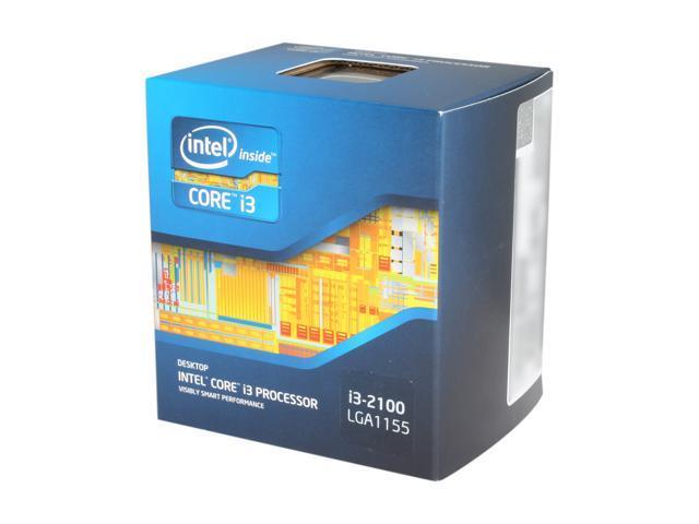 Intel Core i3-2100 Dual-Core Processor 3.1 GHz 3 MB Cache LGA 1155 BX80623I32100
