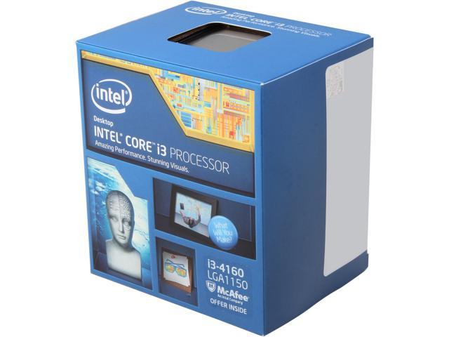 Intel Core i3-4160 3 6 GHz LGA 1150 BX80646I34160 Desktop Processor -  Newegg com