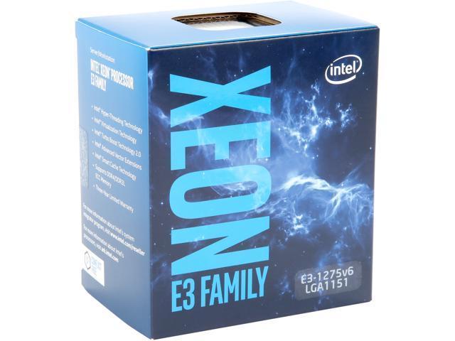 Intel Xeon E3 1275 V6 Kaby Lake 3 8 GHz 4 2 GHz Turbo LGA 1151 73W BX80677E31275V6 Server Processor Intel HD Graphics P630
