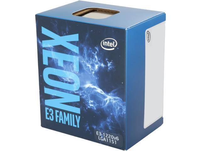 Intel Xeon E3-1220 V6 Kaby Lake 3 0 GHz (3 5 GHz Turbo) LGA 1151 72W  BX80677E31220V6 Server Processor - Newegg com