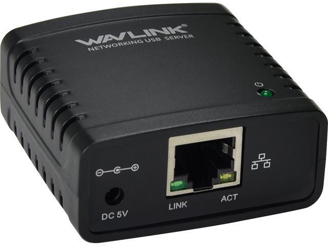Wavlink 100Mbps Ethernet to USB 2.0 Network LPR Print Server - Sale: $24.99 USD