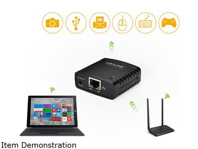 Wavlink Networking Print Server USB 2.0 Ethernet Print Server Adapter LPR 1-Port MFT Print with 10//100Mbps LAN Ethernet Port Share a Standard USB Printer with Multiple Users