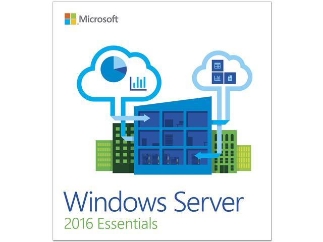 Windows Server 2016 Essentials - 1 Server, 2 CPU - OEM - Newegg com