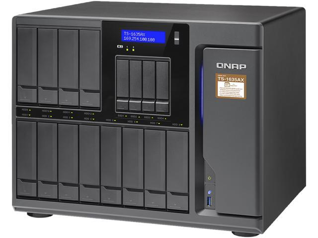 QNAP NAS TS-1635AX-4G-US 16-Bay Marvell ARMADA 8040 Quad-core 1 6 GHz 4G  DDR4 RTL - Newegg com