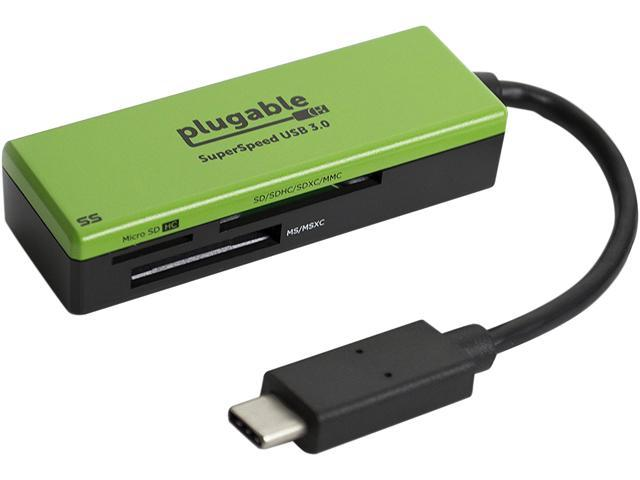 Plugable USB-C Flash Memory Reader for SD, MMC, and MS Cards