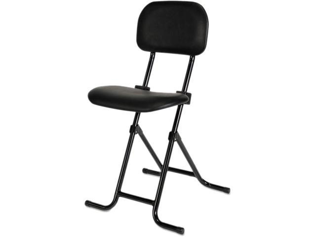 Stupendous Il Series Height Adjustable Folding Stool Black Newegg Com Beatyapartments Chair Design Images Beatyapartmentscom