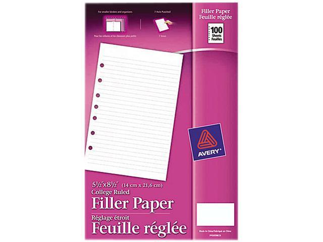Mini Binder Filler Paper 5 1 2 X 8 7