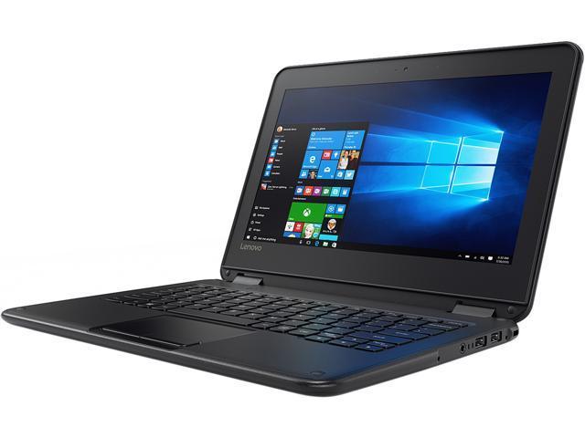 Lenovo Laptop (French Keyboard) 80UR0001CF Intel Celeron N3060 (1 60 GHz) 4  GB Memory 64 GB Flash Intel HD Graphics 400 11 6