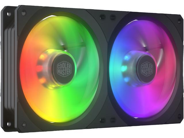 Cooler Master MasterFan SF240R ARGB - 240mm Addressable-RGB Square Framed  PWM Fan with Wired ARGB Controller - 16 Independently-Controlled ARGB LEDS,