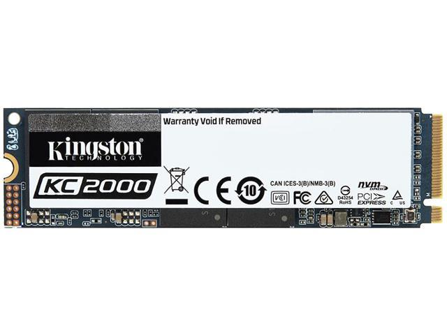 Kingston KC2000 M.2 2280 250GB NVMe PCIe Gen 3.0 x4 96-layer 3D TLC Internal Solid State Drive (SSD) SKC2000M8/250G